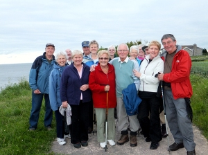 Group photo on Penarth clifftop near Lavernock Point