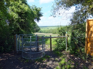 Goldsland Valley kissing Gate near Port Road (picture taken on recce)