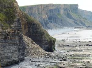 Cliff falls Cwm Mawr and Traeth Bach