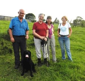 Group on Llancarfan evening walk