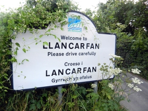 Llancarfan village sign