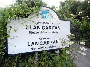 Llancarfan village sign