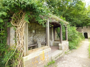 Walled garden Dunraven old summerhouse
