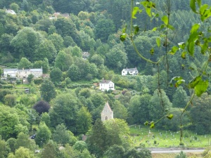 Upper Lydbrook and the church