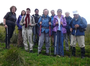 Group photo on Craig Ogwr west of Bwlch