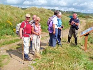 Making their way to Traeth yr Afon