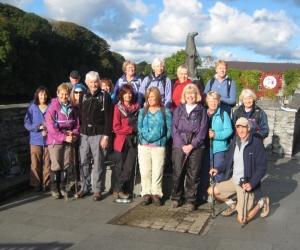 Cardigan - group at start of walk