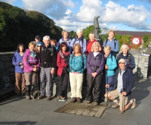 Cardigan - group at start of walk