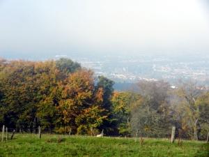 Cefn Onn walk Caerphilly in the mist