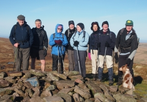 Group on Pen y Gadair