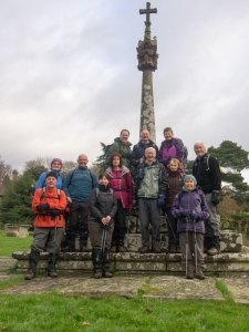 Group at All Saints Church, Newland