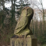 Carved Owl  - Mill Wood, Gower