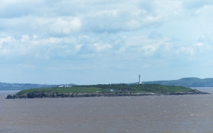 Flat Holm from Lavernock cliffs (not taken on the day)