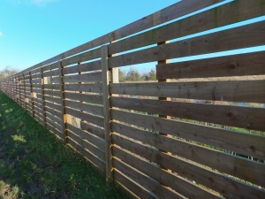 New fence with peep holes to watch wildfowl