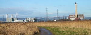 Uskmouth Power Station alongside Severn Power Station