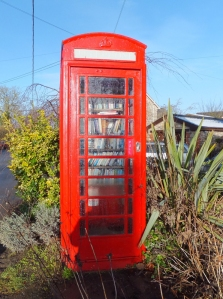 Michaelston library in the old telephone box