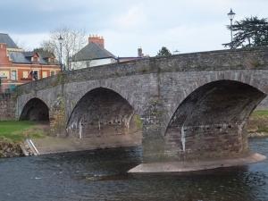 The old stone Usk Bridge