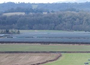 The solar panel farm from Ash Wood