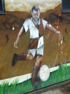 Wern Park football pavilion artwork