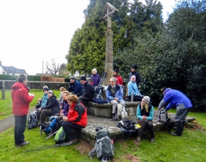 Imparting the history of the church at Tredunnock