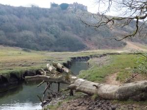 Pennard Pill Valley and Pennard Castle