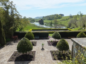 Formal gardens and lake at Penrice