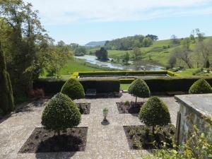 Formal gardens and lake at Penrice