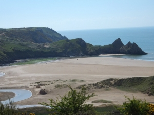 From Notthill across Three Cliffs Bay