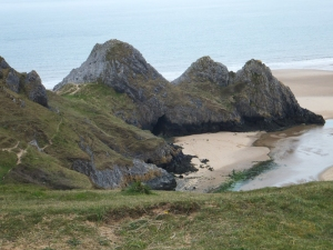 Three cliffs Bay