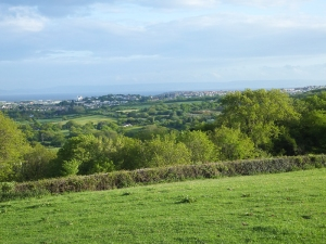 View from the ridgeway at Dinas