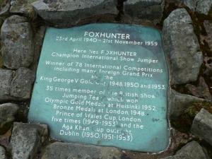 Foxhunter memorial stone