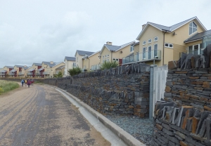New Houses where Machynys Farm once stood