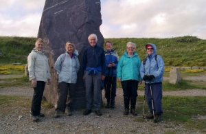 Group at Southernmost point of mainland Wales