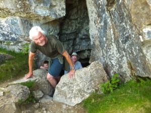 Intrepid explorers at Eglwys Faen Cave