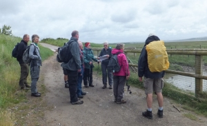 Hearing about the tidal flap and birds in the mud flats