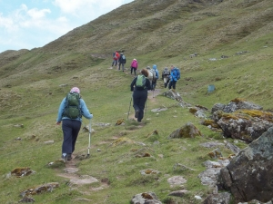 Climbing up Offa's Dyke path