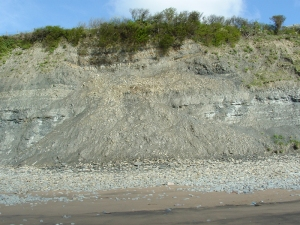Lavernock Beach cliff fall