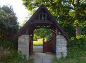 Porthkerry lych gate entrance to St Curig's Church