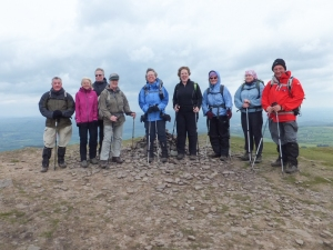 The very windy summit of Twmpa