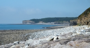 20 mile walk view back to St Donat's from Llantwit beach