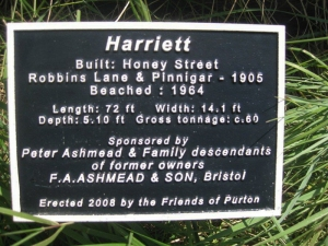 Information plaque re Harriett