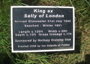 Sally of London information plaque