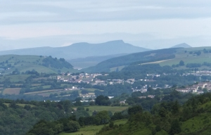 Mynydd Machen first view of the central beacons