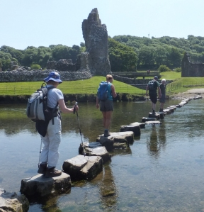 20 mile walk Stepping stones Ogmore
