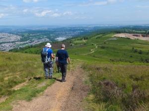 Mynydd Machen beginning the descent