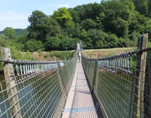 Crossing the Biblin's Suspension Bridge