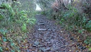 2. Steep rocky path downhill at Cwm Camlais Fawr