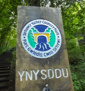 Entering the Sirhowy Country Park