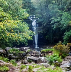 Main waterfall Blaen y glyn from the bridge