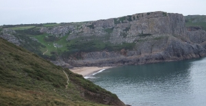 Mewslade and climbers at Thurba